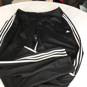 Adidas men's track pants size large black white